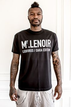Mr Lenoir Black Tee-shirt Gate 13 - Mr Lenoir - Crée par Djibril Cissé Tee Shirts, Tees, Gate, My Style, Mens Tops, Black, Fashion, Moda, T Shirts
