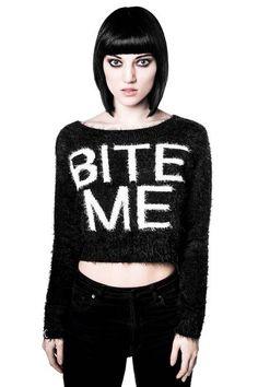Bite Me Crop [B]   KILLSTAR