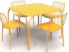 FERMOB | Kintbury Collection KINTBURY | Garden table Square steel garden table , design by Terence Conran (2013)