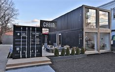 Bulletproof Shipping Container Hunting Lodges – Modern Home Container Restaurant, Container Cafe, Cargo Container Homes, Building A Container Home, Storage Container Homes, Container Home Designs, Shipping Container Buildings, Shipping Container House Plans, Shipping Containers