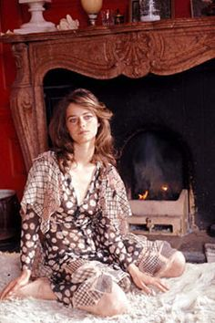 Charlotte Rampling at home.