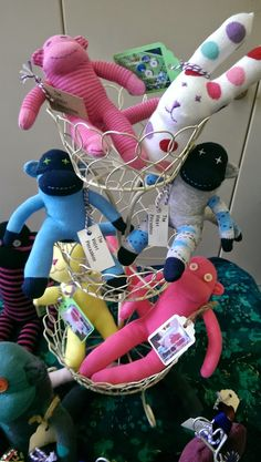 Sock monkey tower, The Violet Pincushion Stand http://thevioletpincushion.blogspot.co.uk