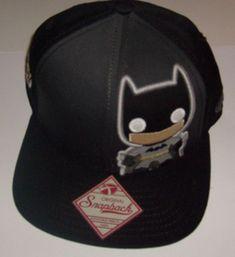 pretty nice f9640 141d0 DC COMIC BATMAN POP HEROES FLAT BILL BRIM ORIGINAL SNAPBACK HAT CAP NEW   SPENCERS  BaseballCap