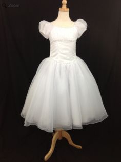Christie Helene Communion Gown. BocelliBoutique.com   Designer #ChristieHelene #FirstCommunion dress - Style# A0843A