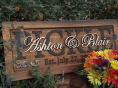 Anniversary gift / Wedding gift / Personalized Carved Wooden Plaque