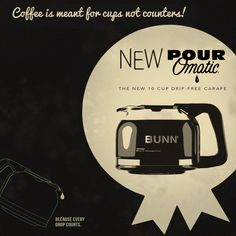 NEW drip free carafe from BUNN.