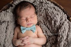 Adorable bow tie for a little boy- now if I can just get babies to cross their hands like this I'll be set.