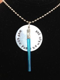Star Wars Inspired Hand Stamped Necklace- The Force; I'm set for Star Wars Weekend this year!