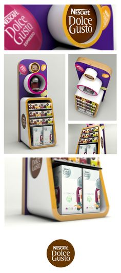 Nestle Dolce Gusto POP Design by Neil Colley, via Behance