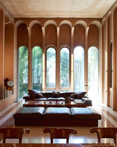 In the early 1970s, an abandoned cement factory on the western fringe of Barcelona stood as a crumbling relic of Spain's industrial past. Where some people would have been daunted or deterred by the vast and derelict site, the architect Ricardo Bofill was inspired. He envisioned it as the dramatic setting for his home and offices.