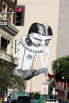Beyond Banksy Project / Claudio Ethos - Los Angeles, USA Murals Street Art, 3d Street Art, Amazing Street Art, Street Art Graffiti, Street Artists, Graffiti Artwork, Art Mural, Graffiti Wall, Banksy