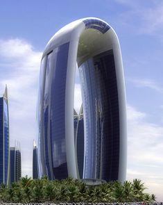 Regatta Hotel Jakarta, hotel 5 estrellas con 160 metros de altura, con forma de arco que representa un faro u hoguera, Es un proyecto coloso con 320 habitaciones en su lujosa torre hotel, y un total de 920 apartamentos en sus torres residenciales todas extendidas sobre un área enorme de 99,363 m².