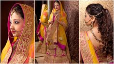This Wedding season, Quirk it up & Make a striking style statement wearing this Pink Bridal Lehenga paired with contrast Yellow Dupatta. The Gold work completes the entire rich look keeping it ethnic yet classy.  Let's celebrate our cultural heritage and incredible traditions with Bridal/ Designer collection at Rent an Attire. One stop to find your perfect wedding attire !  Check out all new collection dedicated to The Brides.. Book your wedding outfit.