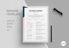 Ad: Elegant CV Template by Emaholic Template on This professional resume will help you stand out ! The package includes a resume template and cover letter template in a pretty theme. Best Resume Template, Cv Template, Cover Letter Template, Letter Templates, Design Templates, Business Brochure, Business Card Logo, Selena Gomez, Professional Resume