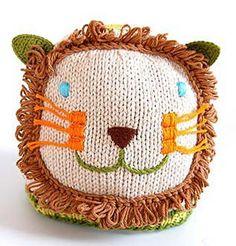 adorable knit lion hat