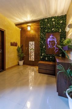 apartment entrance area door design Source by deborahtyagi Pooja Room Door Design, Door Design Interior, Foyer Design, Home Room Design, Ceiling Design, House Design, Flat Interior, Main Entrance Door Design, Home Entrance Decor