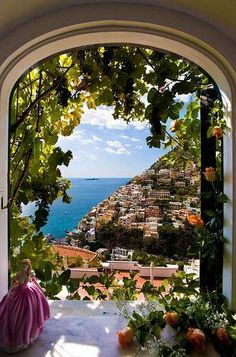 View from the window by villafiorentino Amalfi Coast, Positano, Italy