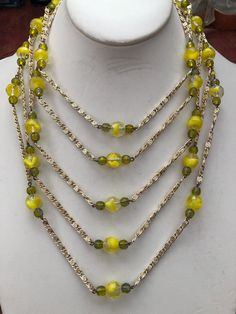 Vintage 1950/'s Bright Green Necklace and Earing Set-Hard Plastic-Made in Germany Perfect for Easter!