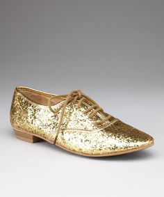 Gold Sparkle Goer Shoe... LOVE only $12.99 at zulily!
