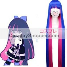 Blue and Red 120cm Panty & Stocking With Garterbelt Anarchy Stocking Cosplay Wig