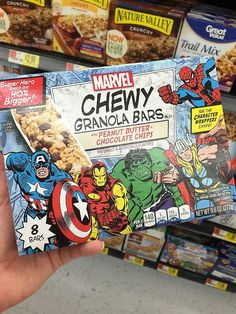 Create an Avengers Snack Stand with Marvel Chewy Granola Bars and Free Captain America Printables from Michelle's Party Plan-It