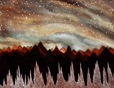 Etsy の Fine Art Print-Andes Ice Forest by elisemahanfineart