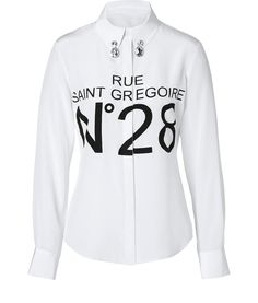 designer: moschino c & c details here: Silk Blouse in White