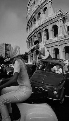 500 fiat paparazzi in Rome