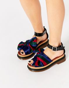 Image 1 of ASOS FILLY Chunky Bow Flat Sandals