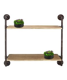 Another great find on #zulily! Metal Pipe Wall Shelving Unit #zulilyfinds