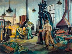 Blacksmith's Shop, Dairycoates Shed, Hull by Harold Whitaker