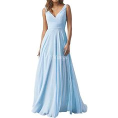 Light Sky Blue Chiffon Bridesmaid Dresses Long V-Neck Lace-Up Back A-Line Country Wedding Guests Dresses Cheap Plus Size Maid Of Honor Gowns Beidesmaid Dresses Chiffon Bridesmaid Dresses Maid of Honor Dresses Online with $105.39/Piece on Imangoawn's Store | DHgate.com Maid Of Honour Dresses, Maid Of Honor, Country Wedding Guest Dress, Turquoise Bridesmaid Dresses, Cheap Dresses, Formal Dresses, Wedding Party Dresses, Chiffon Dress, Dresses Online