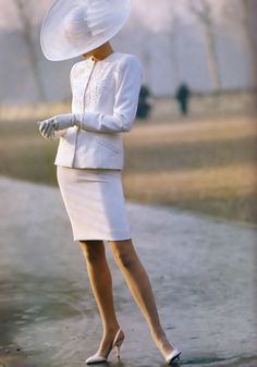 White suit for formal wedding or mother of the bride