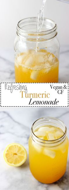 Recipes Smoothies Refreshing Turmeric Lemonade that is sweet and hydrating. Turmeric contains many antioxidants, anti-inflammatory properties and so much more! Recipe is vegan and gluten-free. Smoothie Detox, Juice Smoothie, Smoothie Drinks, Smoothie Recipes, Cleanse Detox, Diet Drinks, Healthy Lemonade, Healthy Drinks, Healthy Recipes