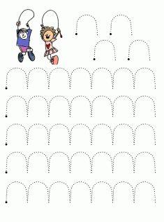 Line Worksheet - Preschool Writing, Numbers Preschool, Preschool Learning Activities, Writing Activities, Pre K Worksheets, Kindergarten Addition Worksheets, Kindergarten Worksheets, Pre Writing, Writing Skills