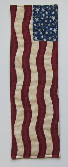 American Flag  Small Vertical Wall Quilt by QuiltingGranny on Etsy, $9.95