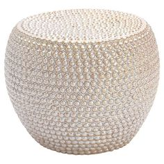 Perfect as an eye-catching ottoman in your home library or den, this hobnailed ceramic stool adds artful appeal to your decor.  Prod...