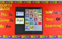 """iPad bulletin board... very """"APP""""ealing :) how cute, have students pictures as apps!"""