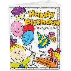 Birthday Mini Activity Books