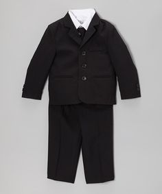 Take a look at this Black Five-Piece Suit Set - Infant, Toddler & Boys by Kid's Dream on #zulily today!