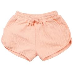Cera Peach Mini Quilt ($52) ❤ liked on Polyvore featuring shorts, bottoms, shorts/skirts and mini shorts