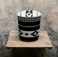 This beautiful stool was a plain bucket in its other life. Unbelievable? Believe it! See how its done #DIY #decor