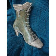 Raku Ceramic Mary Poppins' Boot Shape Inspired Flower Pot