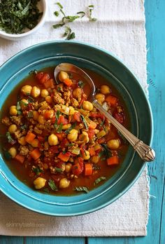 Ground turkey and chickpeas are slow cooked with turmeric, paprika, coriander and lots of...