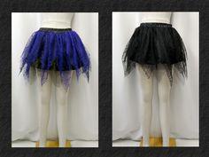 【楽天市場】ゴシック ゴスパンク クモレース イレギュラー ティアード チュール ミニスカート 2色:PARROT