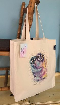 Range of gifts designed by Sophie Appleton Artist. Printed and Embroidery Tote Bags. Swirls, Reusable Tote Bags, Embroidery, Prints, Artist, Country, Penguin, Animals, Shopping