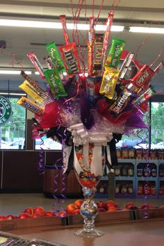 Candy center piece  #CandyCenterpiece #bars #candies