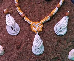 Picture of Beachwear Necklace with earrings made using paracord