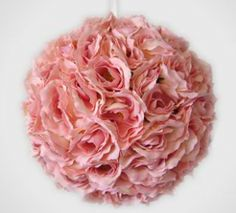 These are so easy to make with real or faux flowers. I recommend faux flowers and then hang them over your bed or vanity. Crafts To Make, Fun Crafts, Paper Crafts, Faux Flowers, Paper Flowers, Topiary Trees, Ball Decorations, Beach Bunny, Everything Pink