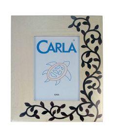 13,20€ Portafotos de madera blanco/marrón 10x15cm